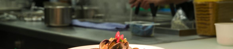 Muscheln in der Küche